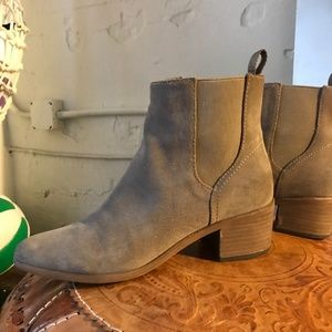 Dolce Vita Taupe Suede Slip On Booties Size 8.5